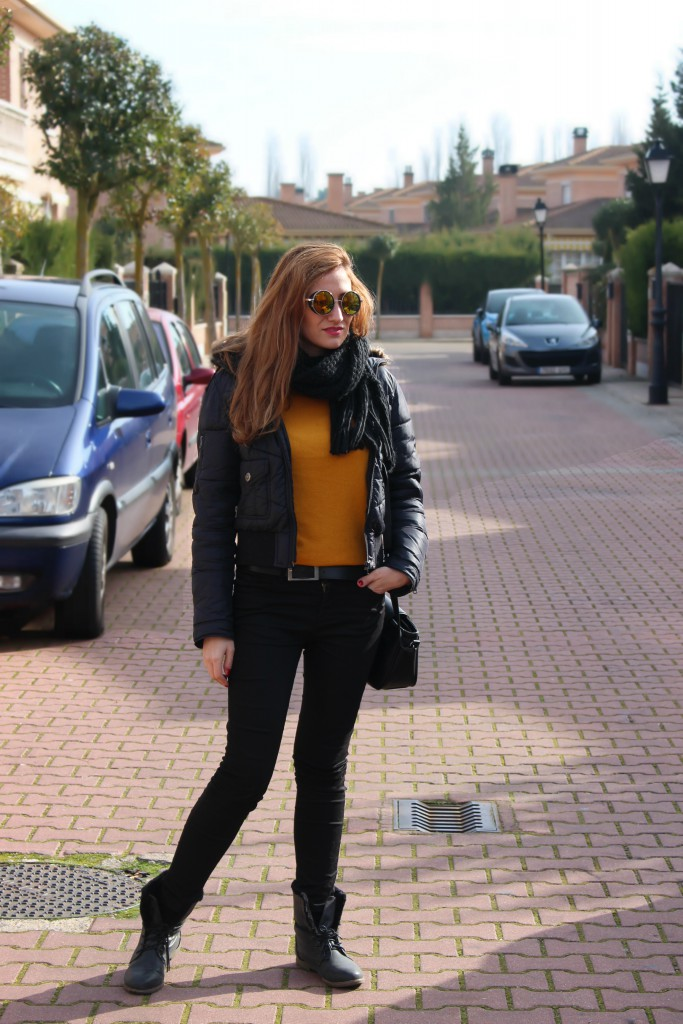 Look casual mostaza y negro 3