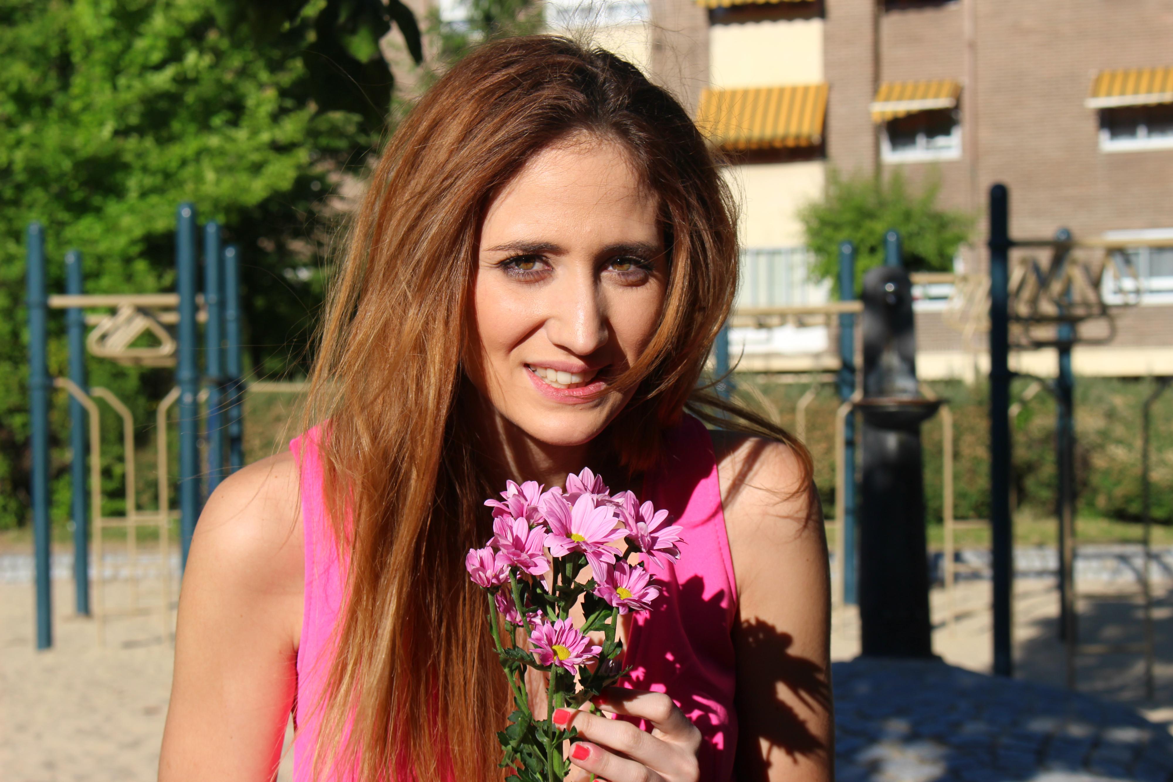 Rosa y margaritas 5