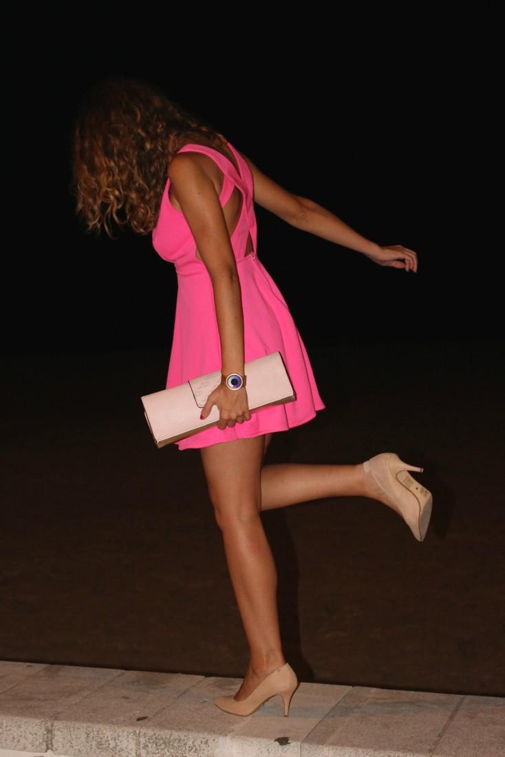 Total look rosa – Restaurante Batiste