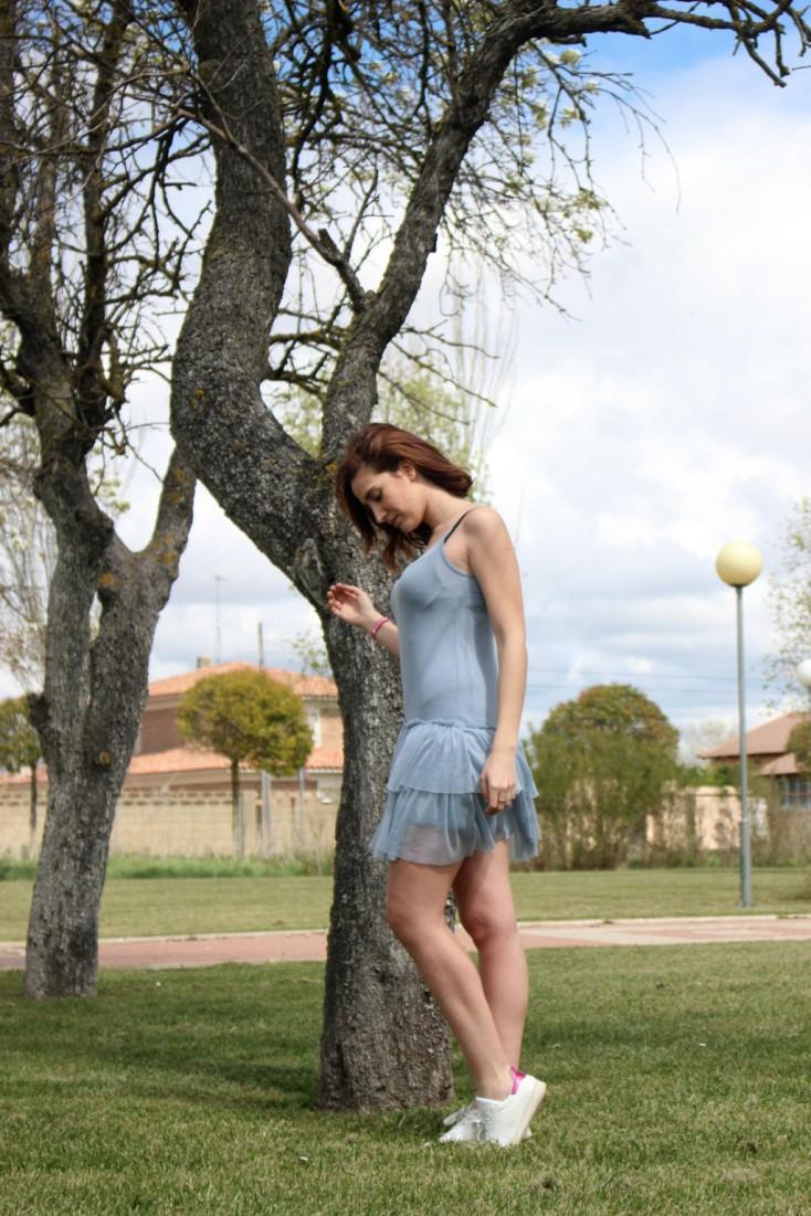 Azul serenity - Vestido tul 1